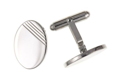 Oval Cufflinks Solid Sterling Silver